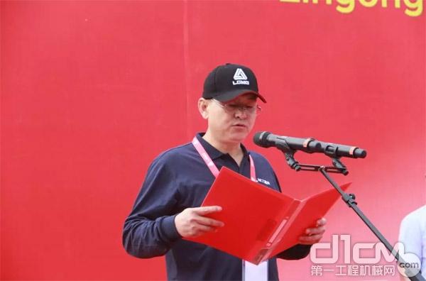 矿机参赛选手代表、西安鼎力工程机械有限公司服务经理刘玉良发言