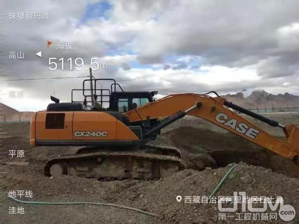 凯斯挖掘机高海拔施工