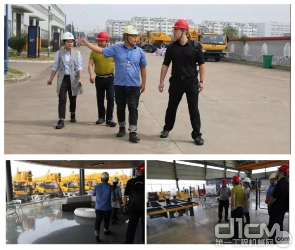 李宏宝秘书长一行参观安徽柳工起重机制造工厂
