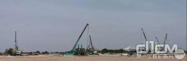 六台山河智能设备在泗水中资钢厂工地施工