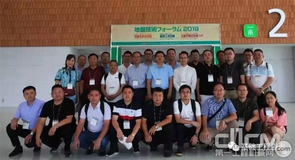 中国工程机械学会桩工机械分会组团参加了在东京国际展览中心举办的2019地基基础技术展览会