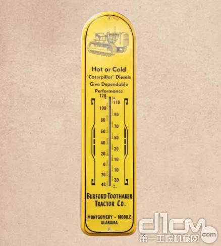1950年,美国<a href=http://dealer.d1cm.com target=_blank>代理商</a>制作了一款温度计广告牌