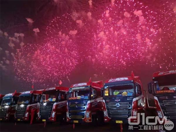 12台三一重型卡车同样是本次盛会的幕后英雄