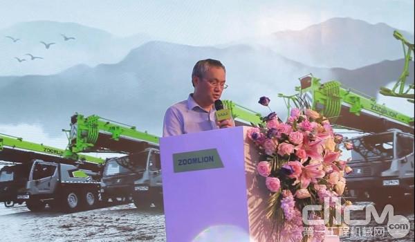 中联重科工起分企业常务副总经理陈铁坚先生致辞