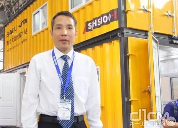 山推建友副总经理庞增领在BICES2019展会现场