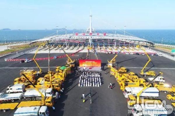 徐工设备助力港珠澳大桥建设