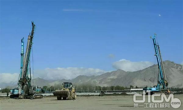 贡嘎机场扩建工程施工