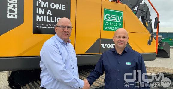 沃尔沃建筑设备向位于基克许灵厄的丹麦租赁公司GSV Materieludlejning移交了四台挖掘机