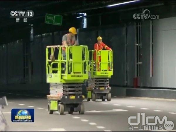 中联重科高空作业平台助力深圳前海重大项目