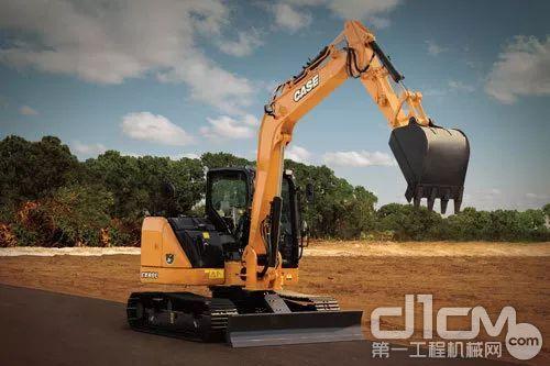 CX75SR标配的铲斗容量范围为0.28~0.40方