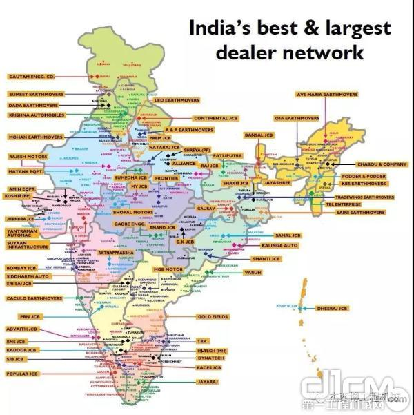 JCB印度经销网络