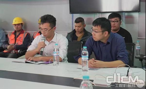 中建八局安装公司济南区域安全总监李亮(左一)致辞