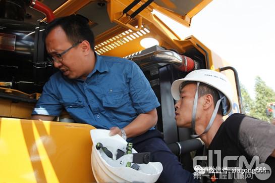 厦工N系装载机批量验收暨安全操作与维护保养专题培训会