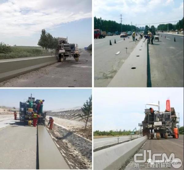 SP 15 滑模摊铺各种水泥混凝土结构物的成功案例
