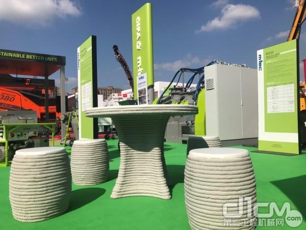 3D建筑打印砂浆桌凳