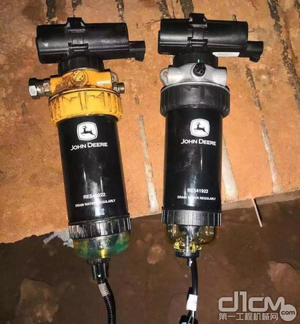 左面为被换下的柴油电子泵,右面为新的柴油电子泵