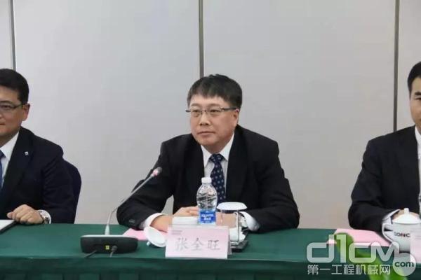 小松(中国)总经理兼CEO张全旺讲话