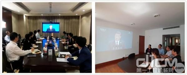 中工国际工程股份有限公司组织观看进博会开幕式