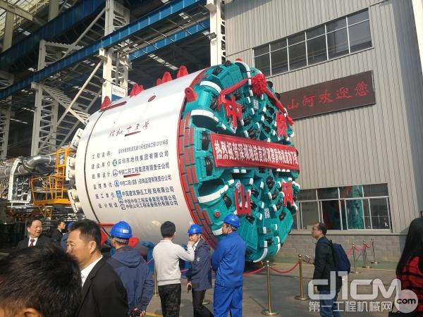 该盾构机为深圳地铁13号线量身定制