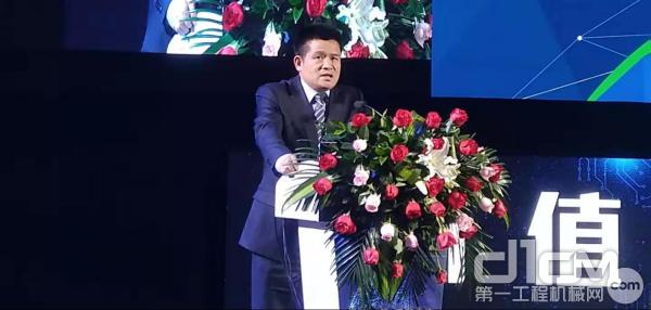 山东临工工程机械有限公司总裁于孟生《高质驱动 价值驱动 共享未来》的主题发言