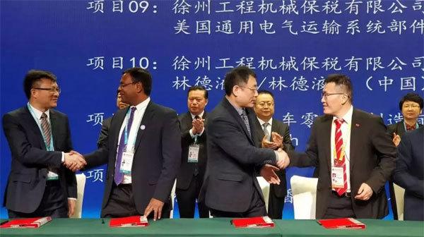 此次博览会上,徐工与通用电气、戴姆勒、川崎等国际知名供应商进行加强合作签约
