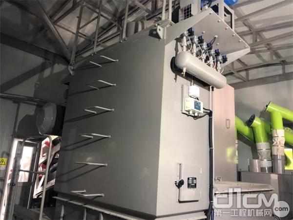 中联重科在各粉尘产生源头均设置了脉冲袋式除尘器