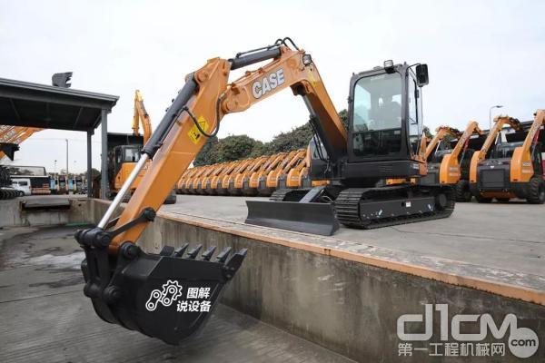 凯斯CX80C运输尺寸长×宽×高(mm):6330×2320×2330