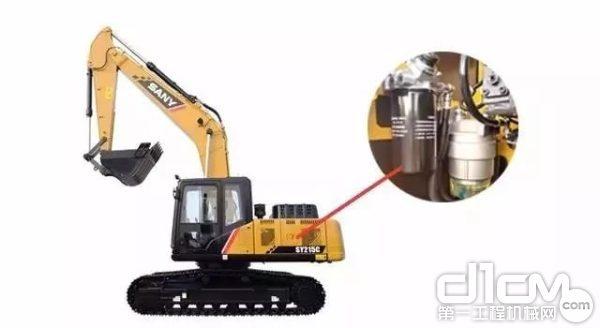 """三一SY215C挖掘机推出国内首创的自循环""""大型双层过滤系统"""""""