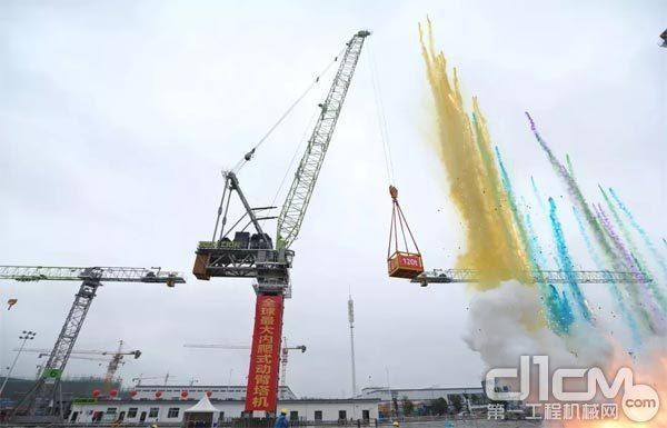 2019年10月全球最大吨位内爬式动臂塔LH3350-120下线