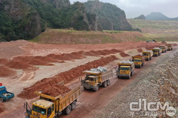同力重工非公路宽体自卸车驰骋在紫金矿业矿区