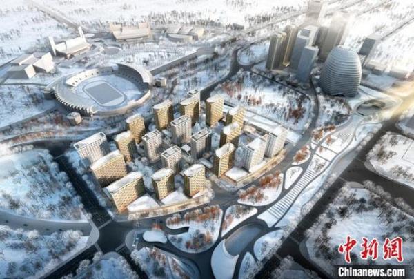 冬奥村项目主体结构封顶