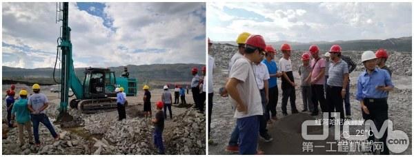当地矿务局领导现场查看钻机试验