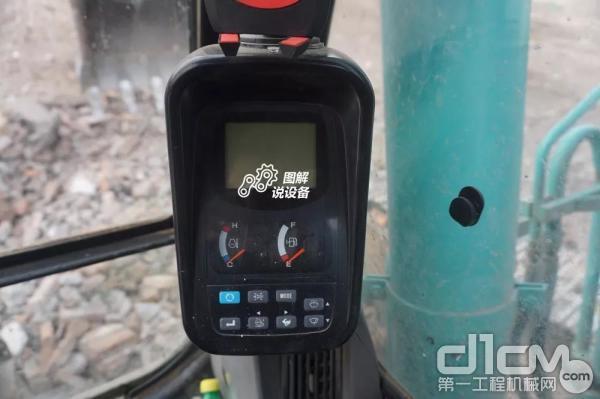 显示屏可以显示机器状态,油量、水温等