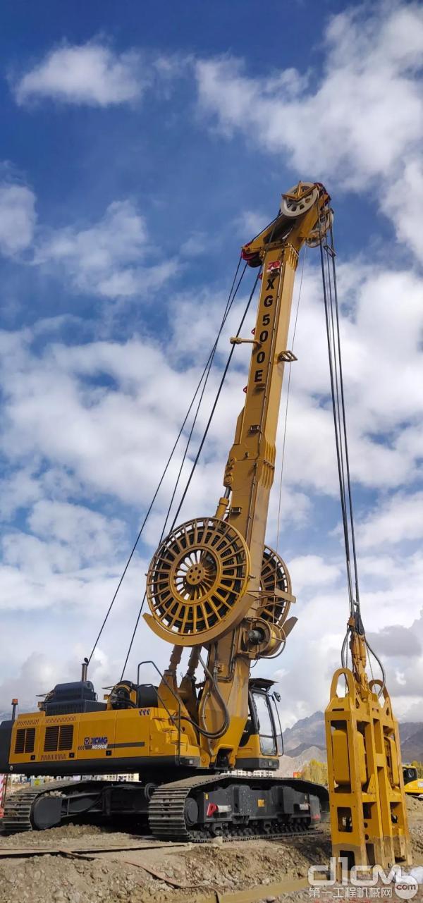 XG500E在西藏施工现场