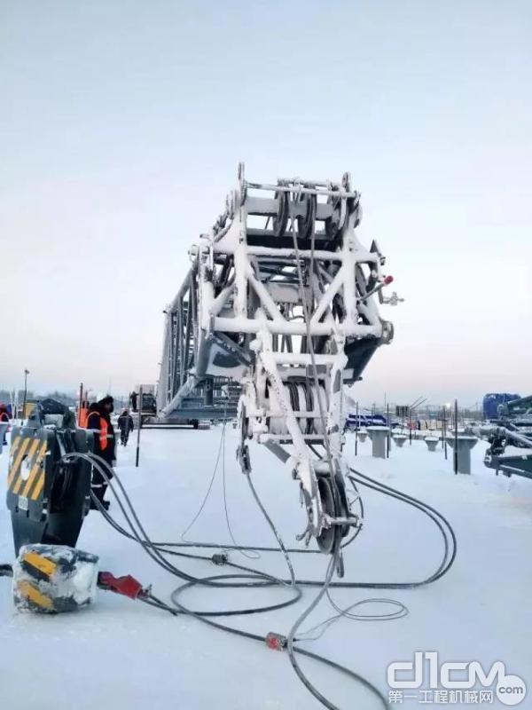 三一履带起重机产品首次打入超极限低温地区