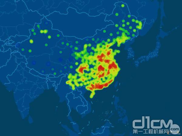 基于大数据的徐工指数分析城市、开工率热度