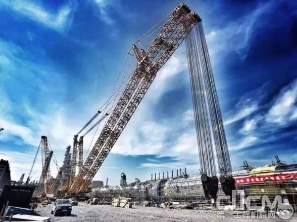 XGC88000履带式起重机 浙石化工程现场