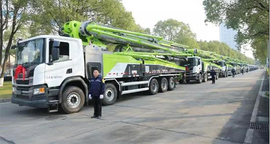 中联重科4000万混凝土机械批量交付 引领行业绿色发展