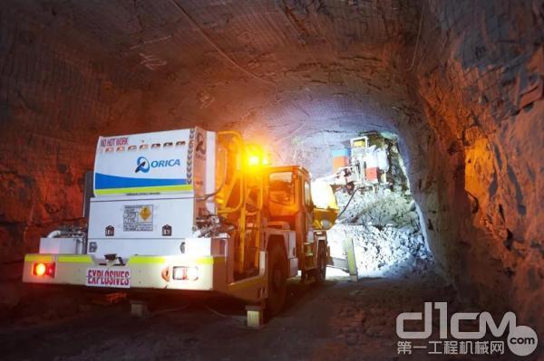 澳瑞凯使用WebGen?无线起爆技术 进行地下采矿作业