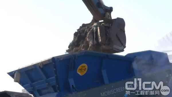 建筑垃圾装车