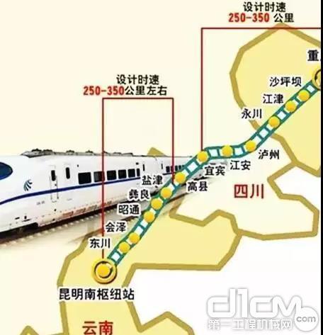 京昆快速铁路大通道