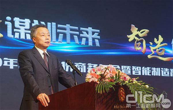 厦门海翼集团有限企业副总经理、厦门股份副董事长王功尤致辞