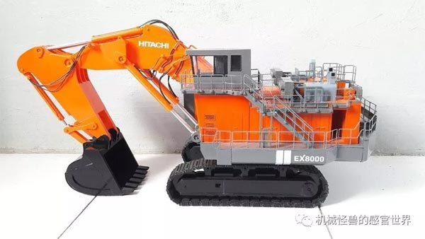 1:50比例的EX8000正铲挖掘机模型