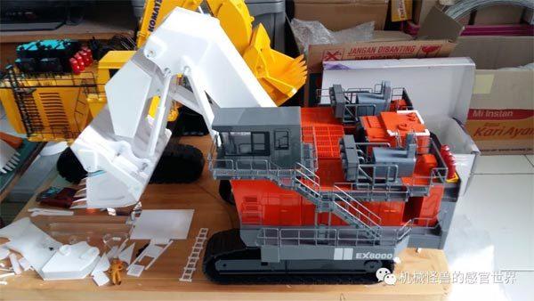 1:50比例EX8000反铲挖掘机模型