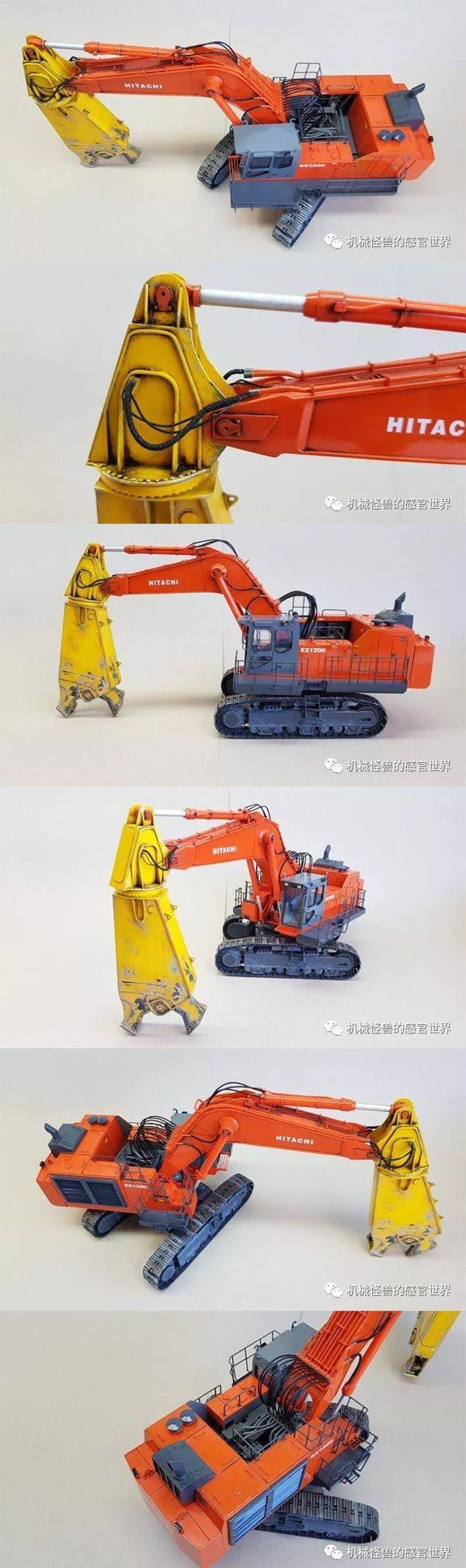1:50日立建机EX1200破碎剪模型细节