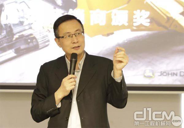 约翰迪尔中国区市场总监兼销售总监郎云讲话