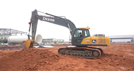 安得廣廈千萬間 約翰迪爾挖掘機為廣西南寧樓宇建設添磚加瓦