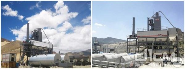 西筑J1500沥青混合料搅拌设备在工地