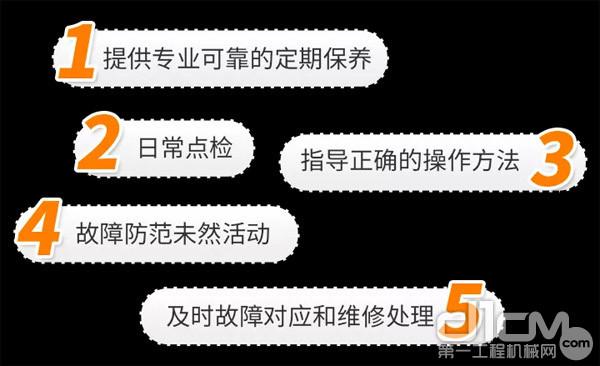 小松授权代理店,将为所有小松用户提供5个方面的全托管服务