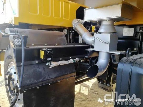 非公路自卸车室外实机排放测试演示现场-2